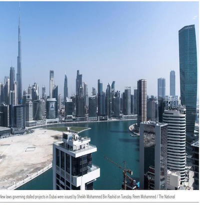 Dubai issues new law on unfinished and cancelled building projects
